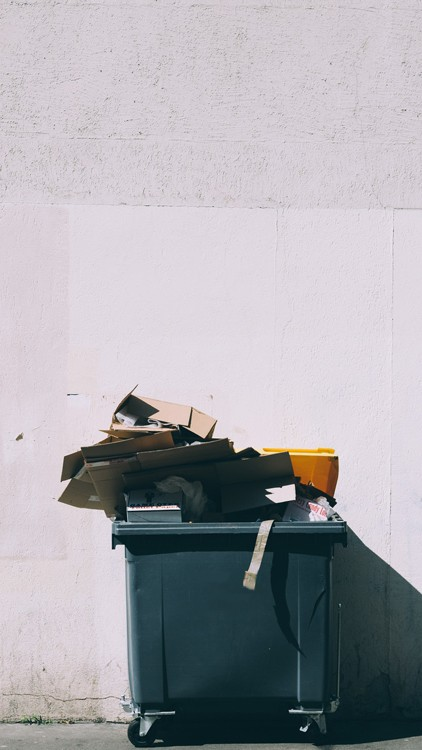 Bin With Rubbish On top